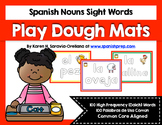 Spanish Sight Words Play Dough Mats (Nouns)