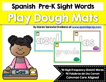 Spanish Sight Words Play Dough Mats (Pre-Primer)