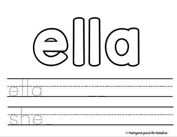 Spanish Sight Words Play dough activity no prep lesson elementary homeschool