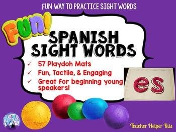 Spanish Sight Words Playdoh Mats-Palabras de Uso Frecuente