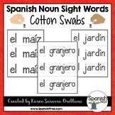 Spanish Sight Words Cotton Swab Printables (Nouns)