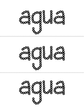 Spanish Sight Words Q-tips (1st Grade)