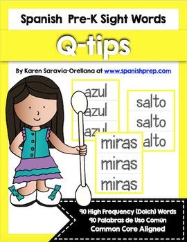 Spanish Sight Words Q-tips Printables Bundle