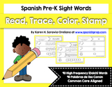 Spanish Sight Words Read Trace Color Stamp Bundle