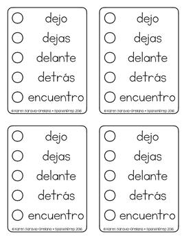 Spanish Sight Words Sticker Book (1st Grade) FREEBIE