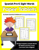 Spanish Sight Words Paper Tablets (Pre-Primer)
