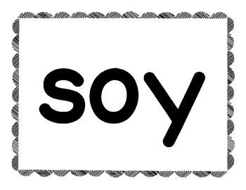 Spanish Sight Words * Tesoros * Treasures * Kindergarten