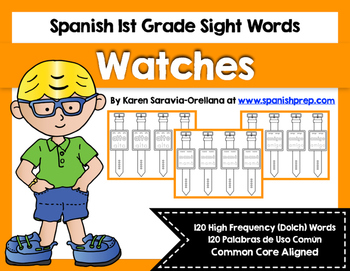 Spanish Sight Words Watches (1st Grade)