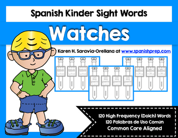 Spanish Sight Words Watches (Primer)