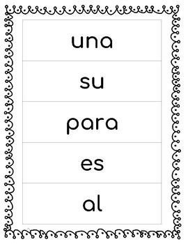 Spanish Sight Words Week 4