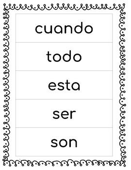 Spanish Sight Words Week 8