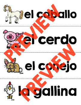 Spanish Sight Words Word Wall (Nouns)