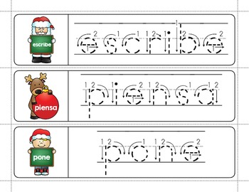 Spanish Sight Words Write & Wipe (1st Grade): Christmas Edition