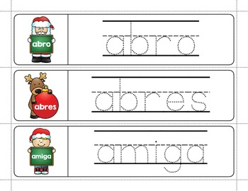 Spanish Sight Words Write & Wipe (1st Grade): Christmas Edition