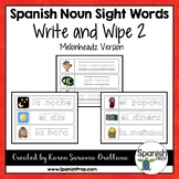 Spanish Sight Words Write & Wipe (Nouns) - Version 2