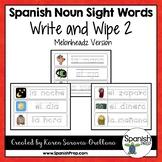 Spanish Sight Words Write & Wipe (Nouns) - Version 2