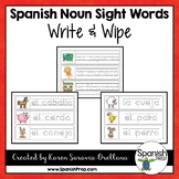 Spanish Sight Words Write & Wipe (Nouns) - Version 1