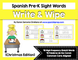 Spanish Sight Words Write & Wipe (Pre-Primer): Christmas Edition