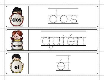 Spanish Sight Words Write & Wipe (Primer)