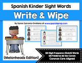 Spanish Sight Words Write & Wipe (Primer)
