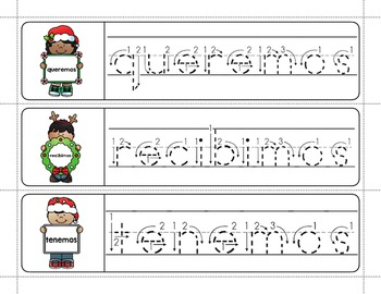 Spanish Sight Words Write & Wipe (Primer): Christmas Edition