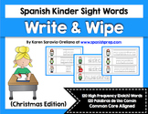 Spanish Sight Words Write & Wipe (Primer): Christmas Edition