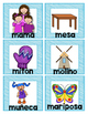 Spanish Sílaba and Vowel Picture Flashcards-Editable!