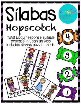 Spanish Sílabas Halloween Hopscotch!