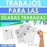 Spanish Syllable Activities - Trabajos para las sílabas trabadas