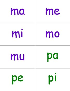 Spanish Sílabas, diptongos y palabras