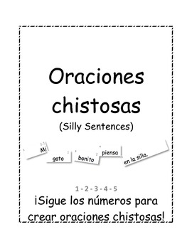 Spanish Silly Sentences Cards (Oraciones chistosas)