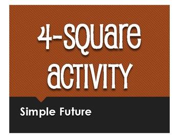 Spanish Simple Future Four Square Activity