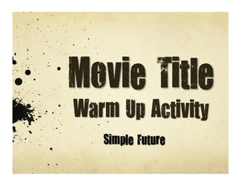Spanish Simple Future Movie Titles