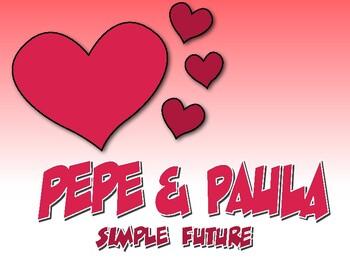 Spanish Simple Future Pepe and Paula Reading