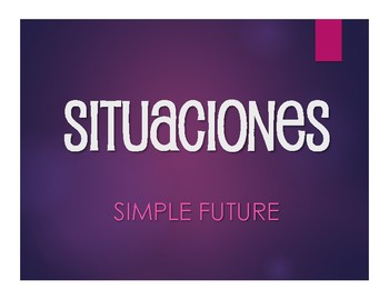 Spanish Simple Future Situations