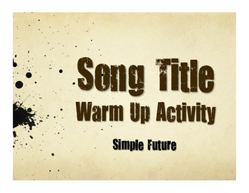 Spanish Simple Future Song Titles