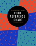 FREEBIE Spanish Simple Tenses Verb Reference Chart
