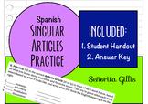 Spanish Singular Articles Practice