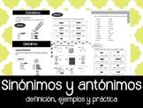 Sinónimos y Antónimos en Español