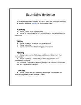 Spanish Skills Portfolio Instructions