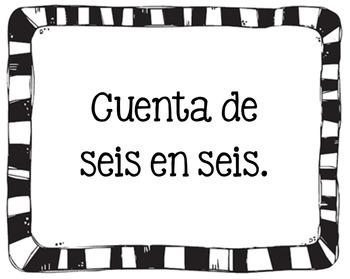 Spanish Skip Counting Task Cards (Conteo Salteado)