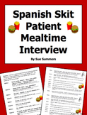 Spanish Skit / Role Play / Speaking Activity - Mealtimes - Las Comidas