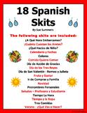 Spanish Skits Bundle of 18 Dialogues / Speaking Activities