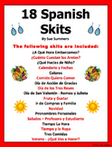 Spanish Skits Bundle of 18 Dialogues / Speaking Activities