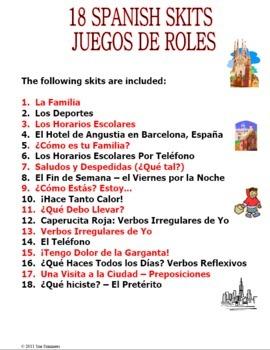 Spanish Skits Bundle of 18!  - MS Word