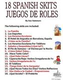 Spanish Skits Bundle of 18 Dialogues / Speaking Activities - PDF