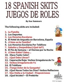 Spanish Skits Bundle of 18 Dialogues / Speaking Activities - PDF