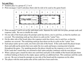 Spanish Small Group Grammar Games, Inventive Twist on Memory (17 Versions)