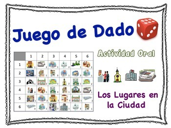 Spanish City Place Speaking Activity for Small Groups (Quick Prep)