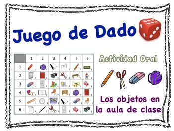 Spanish Classroom Vocabulary Speaking Activity for Small G